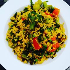 Stir fries are generally pretty easy once you know you can use water or vegetable stock to soften vegetables. Feel free to vary this as per your own taste with different vegetables. Essentially you are just softening veggies, adding in the beans, peas, rice and spice and you're done! Ingredients: * 2 large carrots, diced …