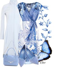 """""""blue dress too!"""" by thefarm ❤ liked on Polyvore"""