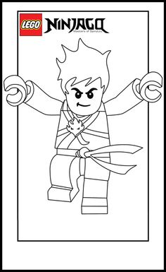 Lego Ninja Go Coloring Pages 5