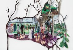 11 Artists Using Embroidery in Radical Ways - Artsy Paper Embroidery, Modern Embroidery, Creative Embroidery, Art Textile, Textile Artists, Thread Painting, Painting & Drawing, Textiles, Soft Sculpture