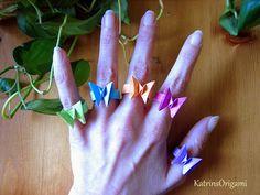 Origami die Kunst des Papierfaltens: Origami Butterfly Ring