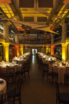 floor plan with posts // torpedo factory wedding with john farr lighting and design cuisine
