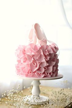 Ballerina Birthday Cake Super Pretty Ballet Birthday Cake With Pink Ruffles And Ballet Shoe Ballet Birthday Cakes, Ballet Cakes, Ballerina Birthday Parties, Ballerina Cakes, Birthday Cake Girls, Ballerina Slippers, Best Birthday Cakes, Princess Birthday Cakes, Birthday Cake For Kids