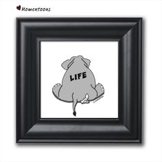 This series of funny comic illustrations is a great gift for someone whose humor is leaning towards the darker side! Life can really suck sometimes, embrace it! These are unique illustration prints that come with an elegant black frame, perfect for your home decoration ideas #fun #darkhumor #comics #uniquegift #ideas #pessimist #homedecor #fun #zerowastegift #lowwaste #humor #jokes Dentist Cartoon, Elephant Illustration, Illustration Art, Funny Cartoon Pictures, Wall Art For Sale, Cute Elephant, Picture Captions, Funny Cartoons, Box Art