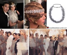Kendall Jenner's Crystal Headpiece from Kris Jenner's Great Gatsby-themed Birthday Party Gatsby Themed Party, Great Gatsby Party, Birthday Party Themes, 20s Party, 1920s Wedding, Art Deco Wedding, Kris Jenner, Kendall Jenner, Great Gatsby Outfits