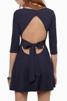 Fashion Backless Bowknot Back Skate Dress