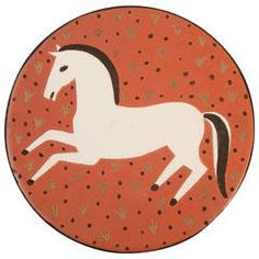 """""""Galloping Horse"""" Art Deco Plaque by Waylande Gregory, 1940s"""