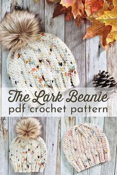 Crochet Adult Hat, Crochet Beanie Pattern, Loom Knitting, Knitting Patterns, Crochet Patterns, Hat Patterns, Knitting Machine, Crochet Gifts, Diy Crochet