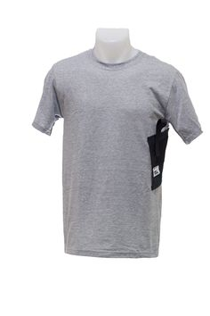 CCWear Holster shirt in heather gray color, sizes Small - XLarge, are available for right and left handed shooters.http://www.wearccw.com/collections/gun_holsters/products/holster-shirt