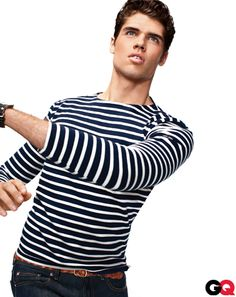 The Boating Sweater April 2011 We Americans might be crazy for our heritage brands, but the French have heritage we can't touch. Take the Breton fisherman's sweater, which has been keeping the French navy warm since 1858. It eventually caught on among the unenlisted (Jean Seberg wore one in the indie classic Breathless) and even among the un-French (Picasso and Warhol favored them, too).