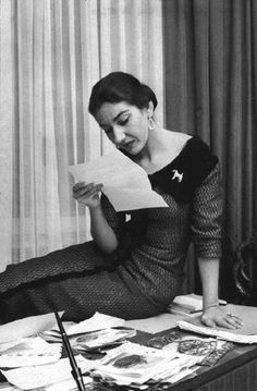 Maria Callas...very short sighted..