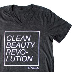 Charcoal Grey Clean Beauty Revolution Tee