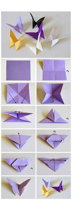 Origami – Kağıttan Kelebek Yapımı HobiTeyze.com | Kendin Yap Sitesi | HobiTeyze.com | Kendin Yap Sitesi