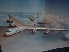 This airplane paper model is a Convair YB-60, an American experimental bomber prototype for the United States Air Force canceled on 14 August 1952, the pap