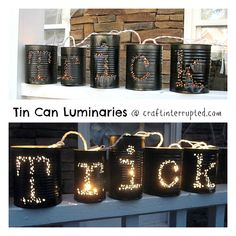Craft, Interrupted: Trick or Treat Tin Can Luminaries