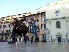 Commedia dell'Arte Piazza Navona Leonardo Petrillo Carnevale Romano 20120214_164034