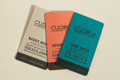 More lovely business cards. {Curious & Co. « Cleanwash Letterpress}
