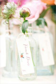 escort card/wedding favor ideas