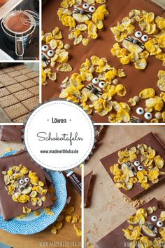 Süße Löwen Schokolade ganz einfach selber machen.