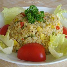 Vaříme zdravě » Bulgur se zeleninou Healthy Life, Healthy Eating, Healthy Food, Fried Rice, Quinoa, Food And Drink, Health Fitness, Vegetarian, Nutrition