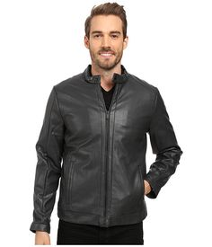 CALVIN KLEIN Faux Leather Jacket. #calvinklein #cloth #coats & outerwear