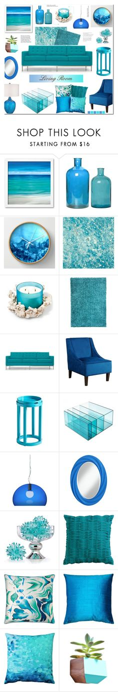 """""""Living Room"""" by anyasdesigns ❤ liked on Polyvore featuring interior, interiors, interior design, home, home decor, interior decorating, Designers Guild, Dot & Bo, Joybird Furniture and Abbyson Living"""