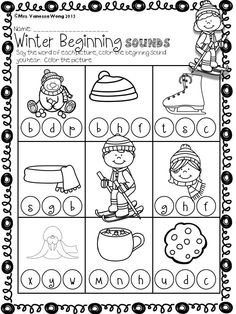Download free printables at preview. Winter math and literacy centre kindergarten- beginning sounds. An excellent pack with a lot of sight word, word families CVC spelling, vocabulary, word work, reading, fluency and other literacy activities and practice