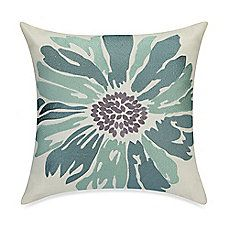 image of Anthology™ Whisper Embroidered Floral Throw Pillow in Spa