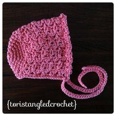 Baby Bonnet Hat - Crochet Pattern