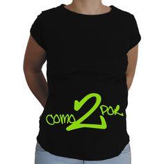 Camiseta para embarazada Divertida - Como por 2.