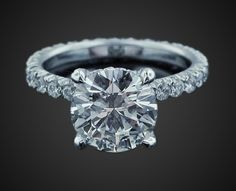beautiful engagement ring. Round Brilliant in 18K White Gold Image