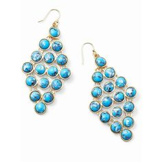 Ann Taylor Turquoise Hue Chandelier Earrings