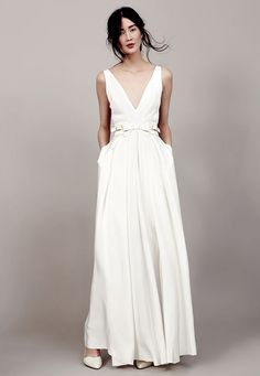 Belted A-line gown from Kaviar Gauche's 2015 bridal collection
