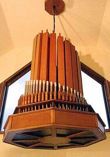 The 2 rank Moller Chandelier Organ, one of only two made by the MP Moller Organ Company of Hagerstown, MD. Check out my full blog post here: http://brianebie.blogspot.com/2014/09/the-m-p-moller-organ-company-chandelier.html