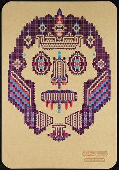 Alpha Zomby Blood Master Handprinted Letterpress Poster