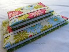 Re-usable floral fabric journal cover/keepers
