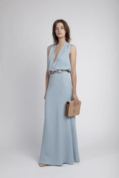 Modern version of my mum's 'going away' dress. The egg blue is so beautiful.