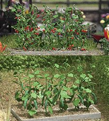 1214 Busch Gmbh & Co Kg HO Cucumber & Tomato Plants - #modeltrainscenery