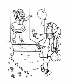 Birthday Coloring pages | Kids leave the Party