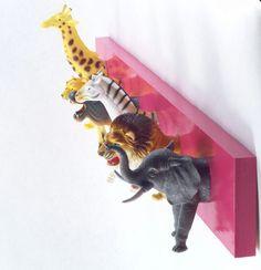 Safari Animal Coat Rack any color by BunchesOfAnimals on Etsy, $30.00