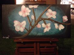 My cherry blossom canvas