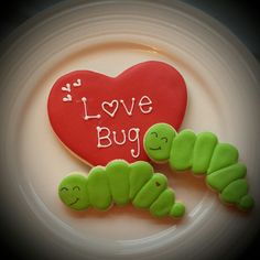 Valentine love bug cookies