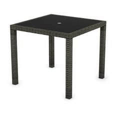 Have to have it. Sonax Park Terrace All Weather Wicker Patio Dining Table - $239 @hayneedle
