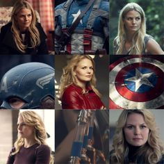 Jennifer Morrison as Stephanie Rogers - aka Captain America.