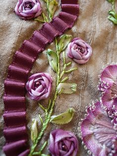 silk embroidery and ribbon                                                                                                                                                      More