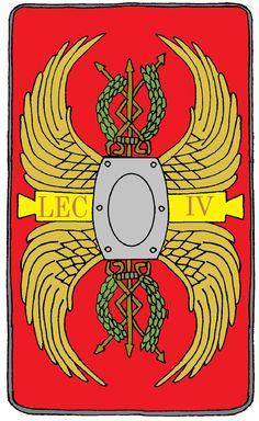 Roman Legionary Shield Legion 4 Scythica by on DeviantArt Ancient Rome, Ancient History, Roman Shield, Roman Legion, Army Uniform, Greeks, Roman Empire, Figure Painting, Sailor