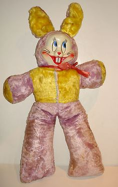 Vintage Easter Bunny Vinyl Face