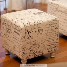 Script French Provincial Poof Pouffe Ottoman Chair Foot Stool Footstool Gift New | eBay