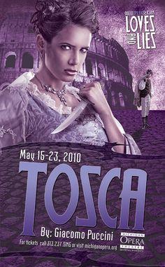 Michigan Opera Theatre: Tosca Poster