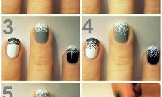 Looking for cool nail art ideas and nail designs you can do at home? Nail polish painting tutorials and at home manicure tips for easy, pretty DIY nails. Love Nails, How To Do Nails, Pretty Nails, Uñas Fashion, Fashion Beauty, Beauty Style, Fashion Design, Holiday Nail Art, Manicure Y Pedicure